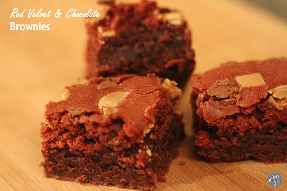 Red Velvet & Chocolate Brownies