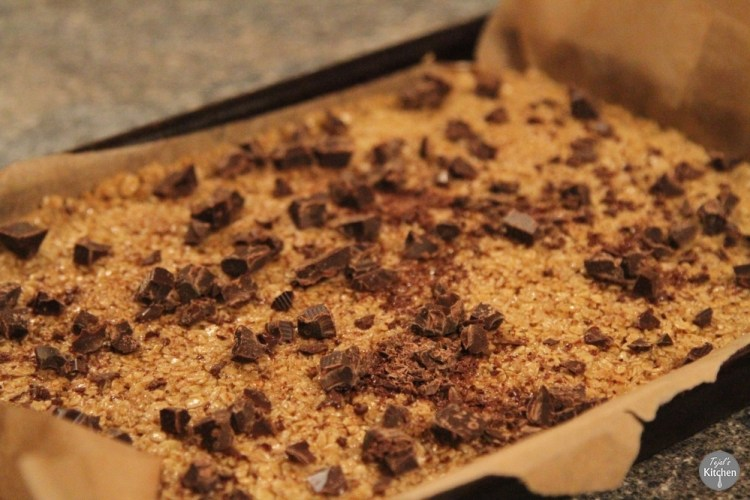 Crunchy Chocolate Flapjacks