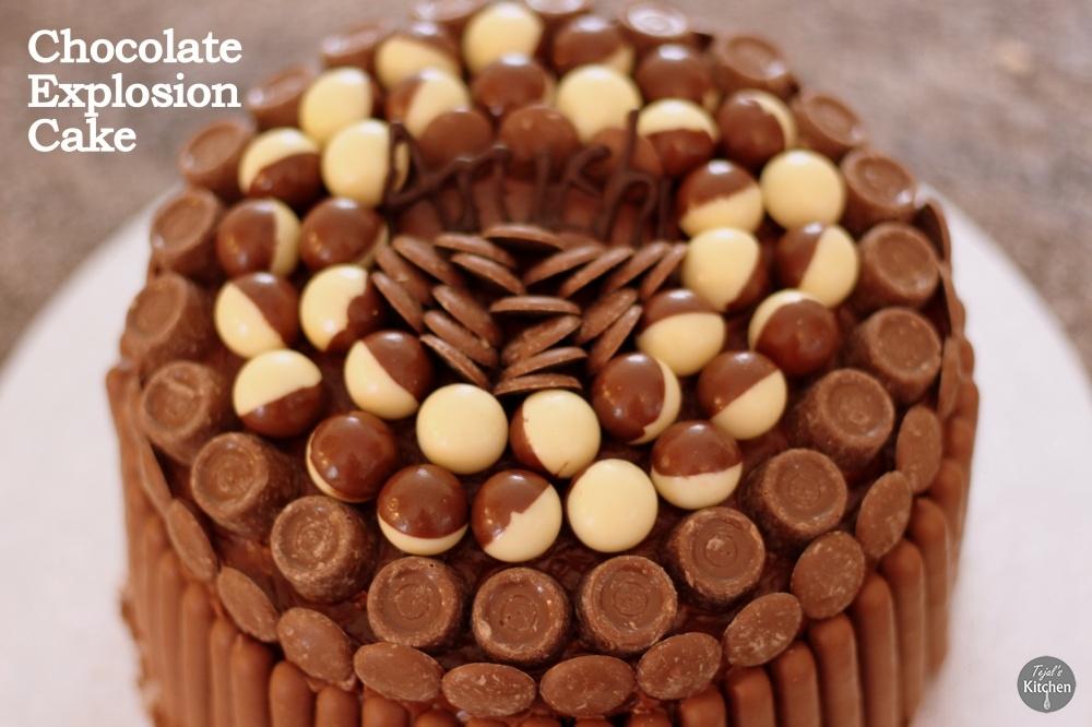 Chocolate Explosion Cake Tejals Kitchen