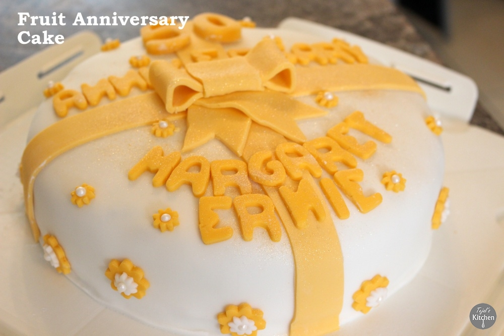 Light Fruit Anniversary Cake