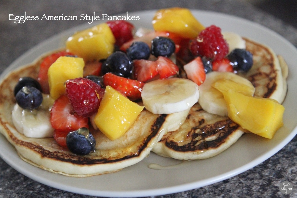 Eggless American Style Pancakes