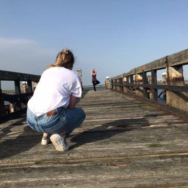 Fotoshoot Yoga pose