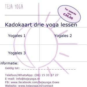 Cadeaubon 3 lessen teja yoga