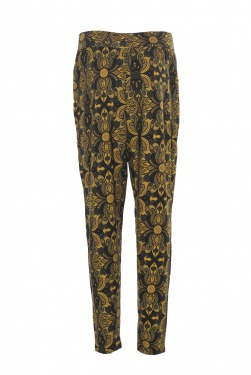 LaLamour Pants Orient Black/Ochre back