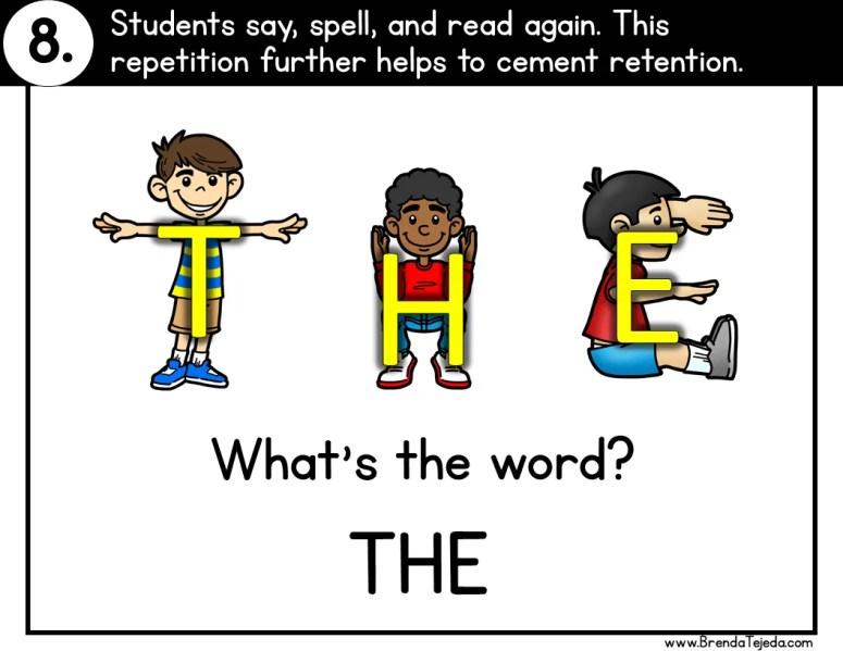 Body-Spelling Sight Words - Tejeda's Tots