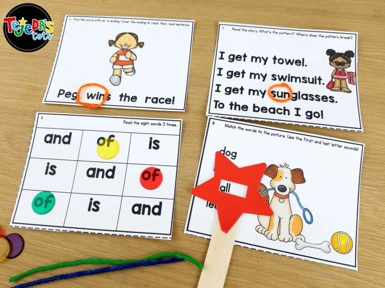 Wikki stix are also great tools for guided reading! These sticky wax strips are perfect for highlighting words or word parts during word work! #tejedastots #guidedreading #taskcards