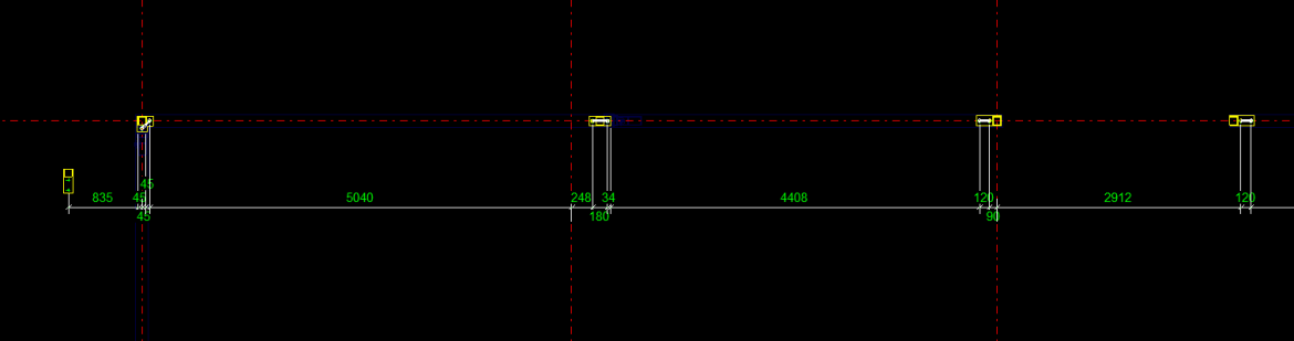 All Gridlines Dimensioned