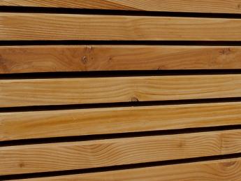 Bardage Faux Claire Voie Vertical Douglas 44 X 115 Mm Tekabois