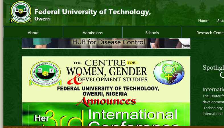 FUTO Is The 2014 Best Federal University of Technology In Nigeria