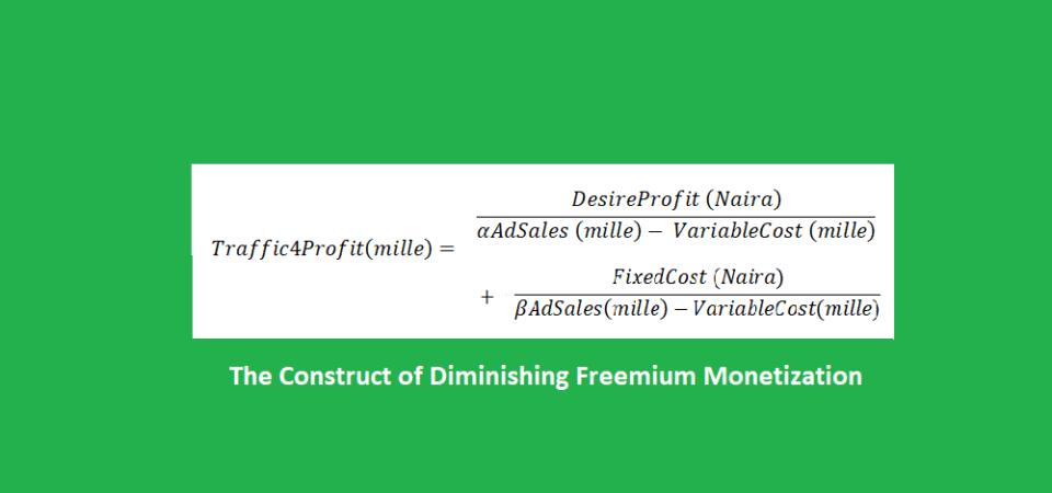 The Construct of Diminishing Freemium Monetization