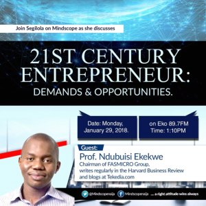 Join me at Eko89.7fm Monday Jan 29th @ 1.10pm on 21st Century Entrepreneur