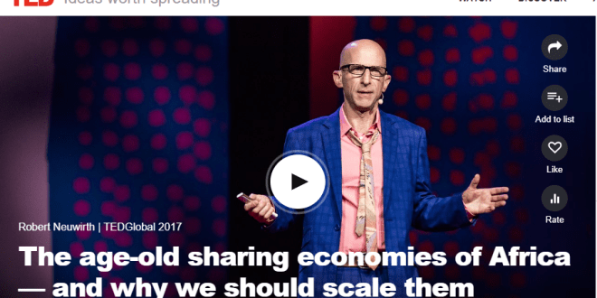 [Full TED Video] â??Igbo apprenticeship system that governs Alaba Intâ??l Marketis the largest business incubator platform in the worldâ? Robert Neuwirth