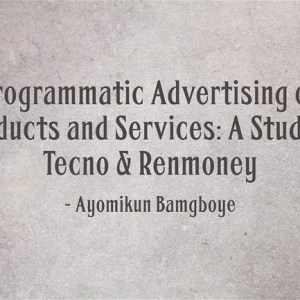 Research Study – Programmatic Advertising
