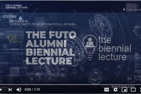 Attend FUTO Alumni Biennial Lecture – Oct 24th, Lagos [Video]