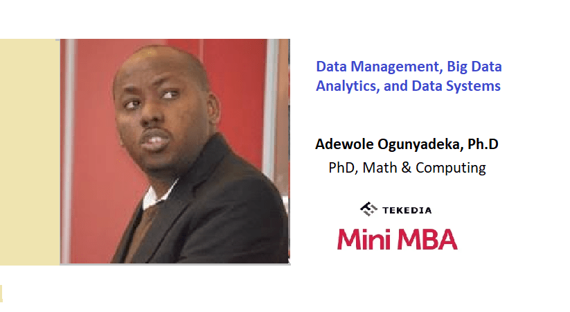Next Session: Data Management, Big Data Analytics, and Data Systems