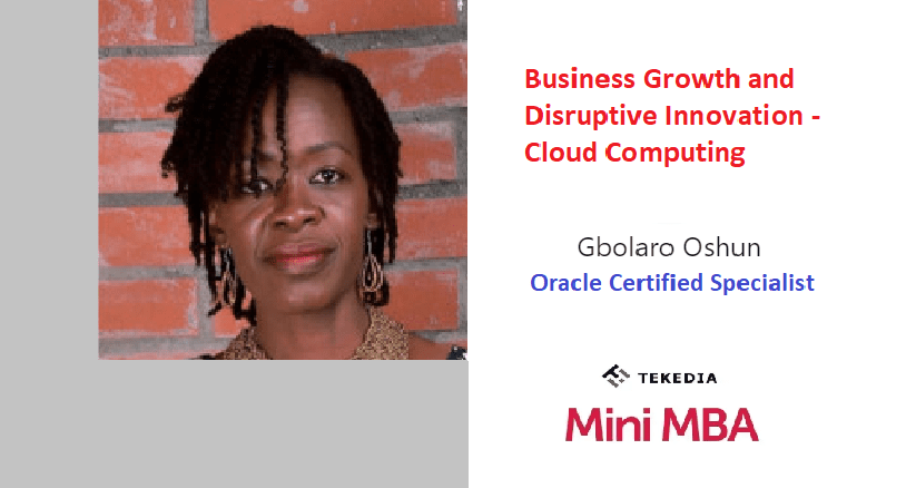 Business Growth and Disruptive Innovation – Cloud Computing