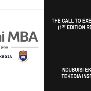 The Call to Execution (Tekedia Mini-MBA 1st Edition Recap)