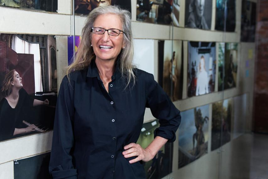 Annie Leibovitz is pictured showcasing her new exhibition 'Women: New Portraits' at The Wapping Project on January 13, 2016. IAN GAVAN/GETTY IMAGES