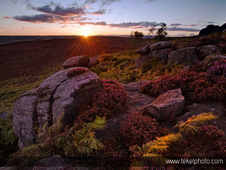 Over Owler Tor evening, Peak District UK 2015