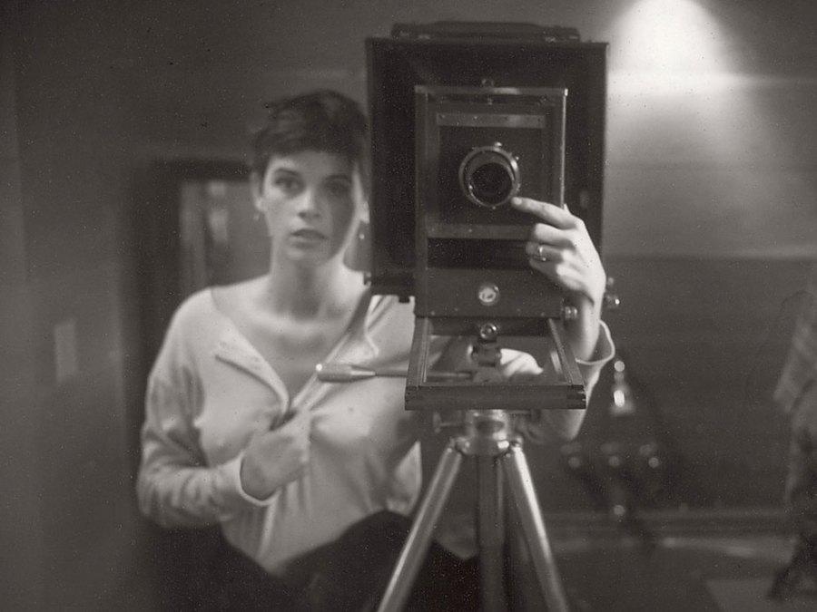 A Sally Mann self-portait, circa 1974 Image: Courtesy of the Virginia Museum of Fine Arts/
