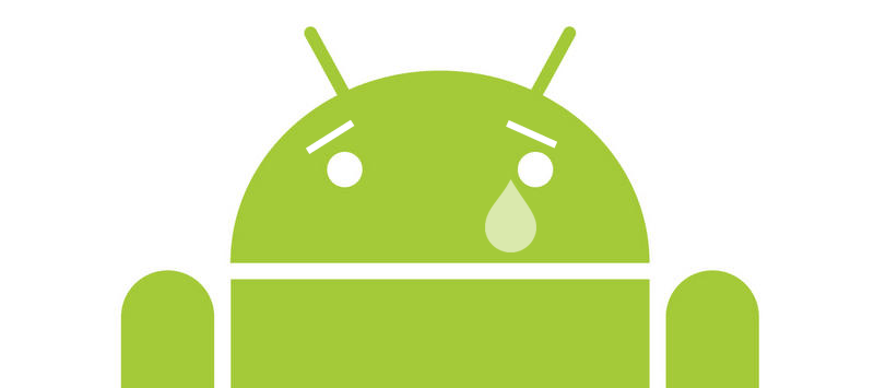 Android Crying! Awww..