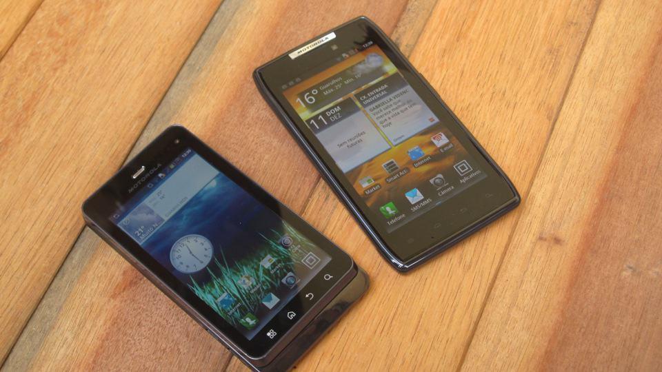 Review Motorola Razr - agua