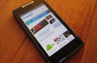 Review Motorola Razr - internet