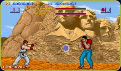 Ryu no primeiro Street Fighter - 1987