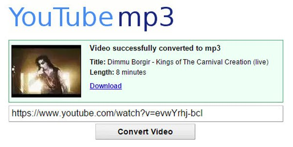baixar áudio do youtube