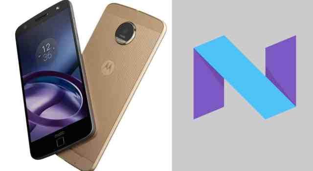 Moto Z com Android 7.0 Nougar