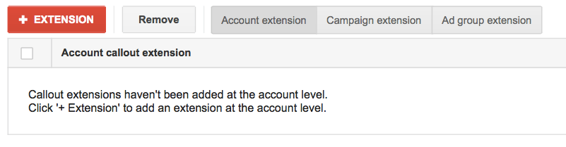 Callout AdWords Extension Guide - 2 Add Extension