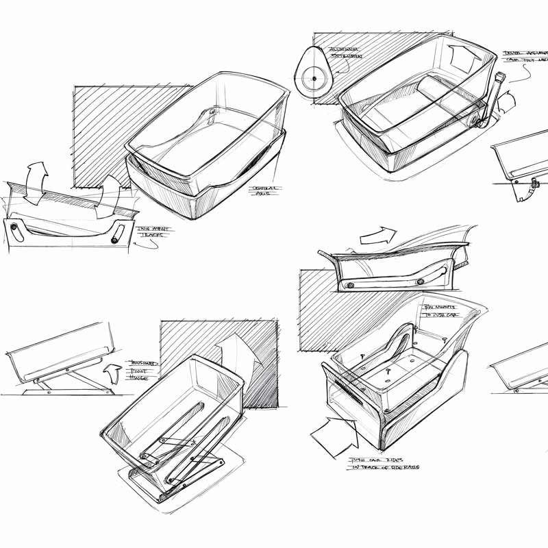 Nara Bassinet Sketch Concepts