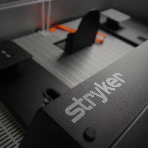 Tech Demo Cart Stryker logo close-up