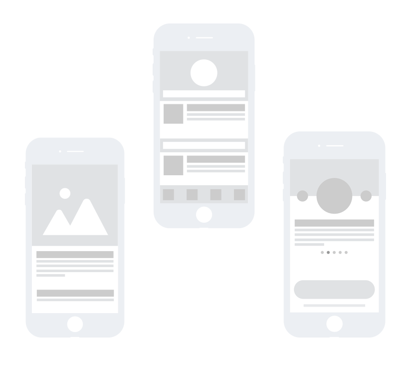 User Experiences Wireframes