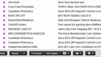 Yahoo mail spam box