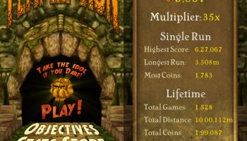 Temple Run for Windows Phone 8 Updated