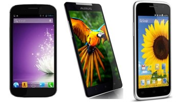 Compare: Micromax Canvas 4 vs iBerry Auxus Nuclea N1 vs Spice Pinnacle FHD