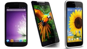 Compare: Micromax Canvas 4 vs iBerry Auxus Nuclea N1 vs Spice Pinnacle FHD