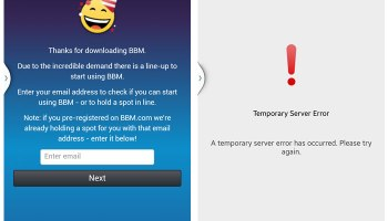 BBM for Android Errors