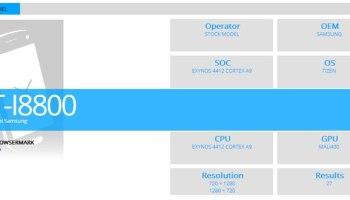 Samsung Tizen Smartphone Benchmarks