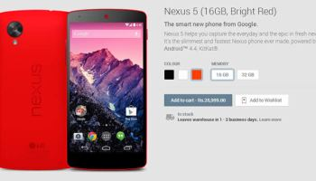 Google Nexus 5 Red is now available