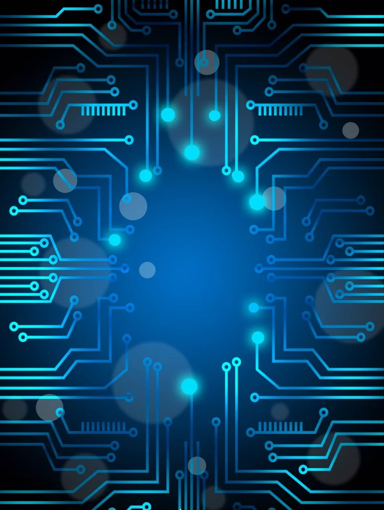 Vector Blue Technology Wallpaper Background Circuit Diagram HD