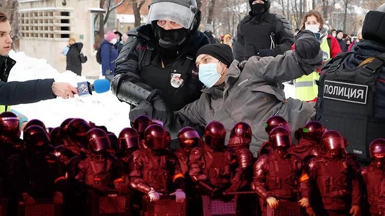 Rusya'da protestolar ortalığı karıştırdı   2021