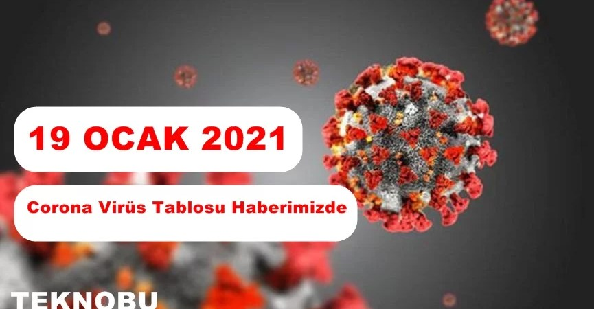 19 Ocak 2021 Corona Virüs Tablosu Açıklandı