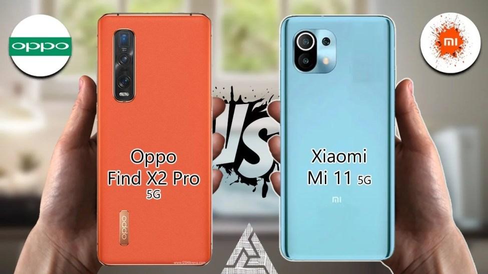 Xiaomi Mi 11 ve OPPO Find X2