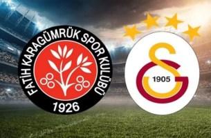Galatasaray Fatih Karagümrük Maçı Canlı İzle