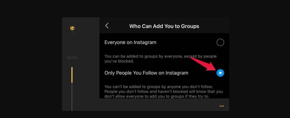İnsanların Sizi Instagram Gruplarına Eklemesini Nasıl Engellersiniz?