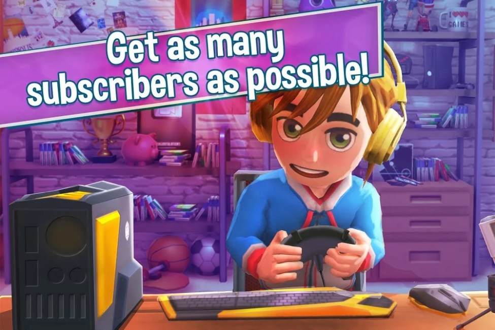 youtubers life gaming channel mod unlimited cashscore moddroid 3