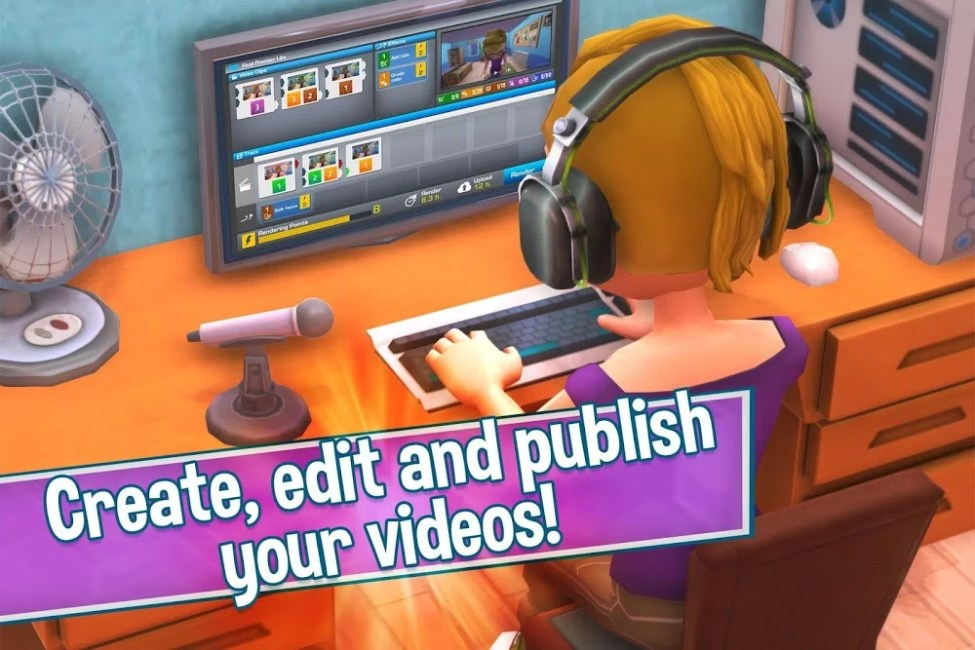youtubers life gaming channel mod unlimited cashscore moddroid 4