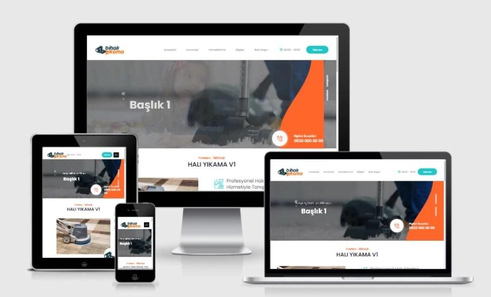 Halı Yıkama Web Sitesi